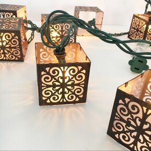 Other - Floral Box Lights String Decorative Bronze